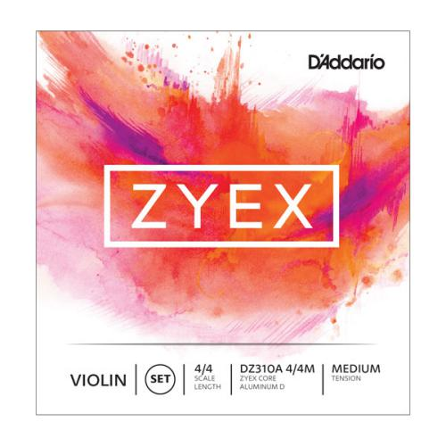 D'Addario Zyex 4/4 Violin String Set, Medium Tension