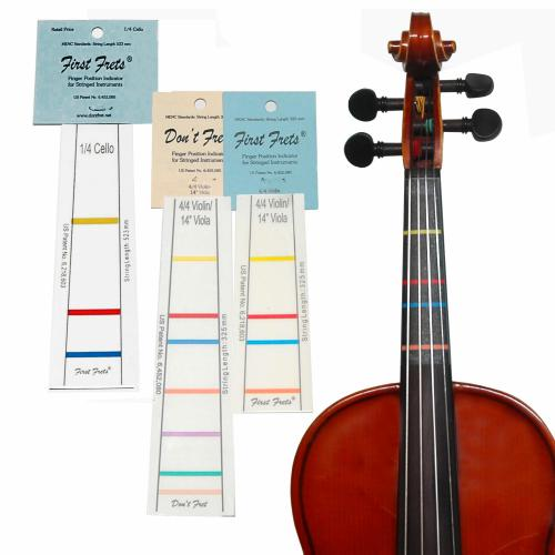 "Don't Fret First Frets 1/2 Violin or 12"" Viola Fingerboard Tape"