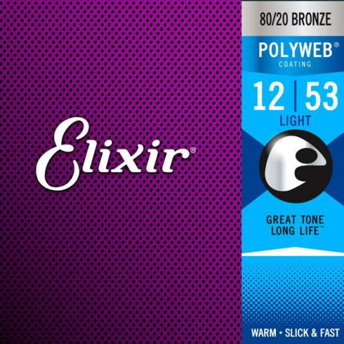 Elixir Polyweb 80/20 Bronze Acoustic Guitar Strings | Kincaid's Is Music