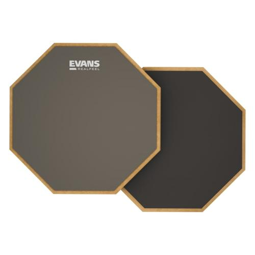 "Evans 12"" RealFeel 2-Sided Drum Practice Pad"