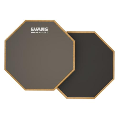"Evans 6"" RealFeel 2-Sided Drum Practice Pad"