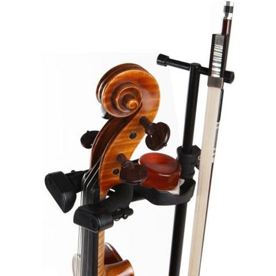 Hercules DS571BB Violin/Viola Stand w/ Bag In Use Up Close