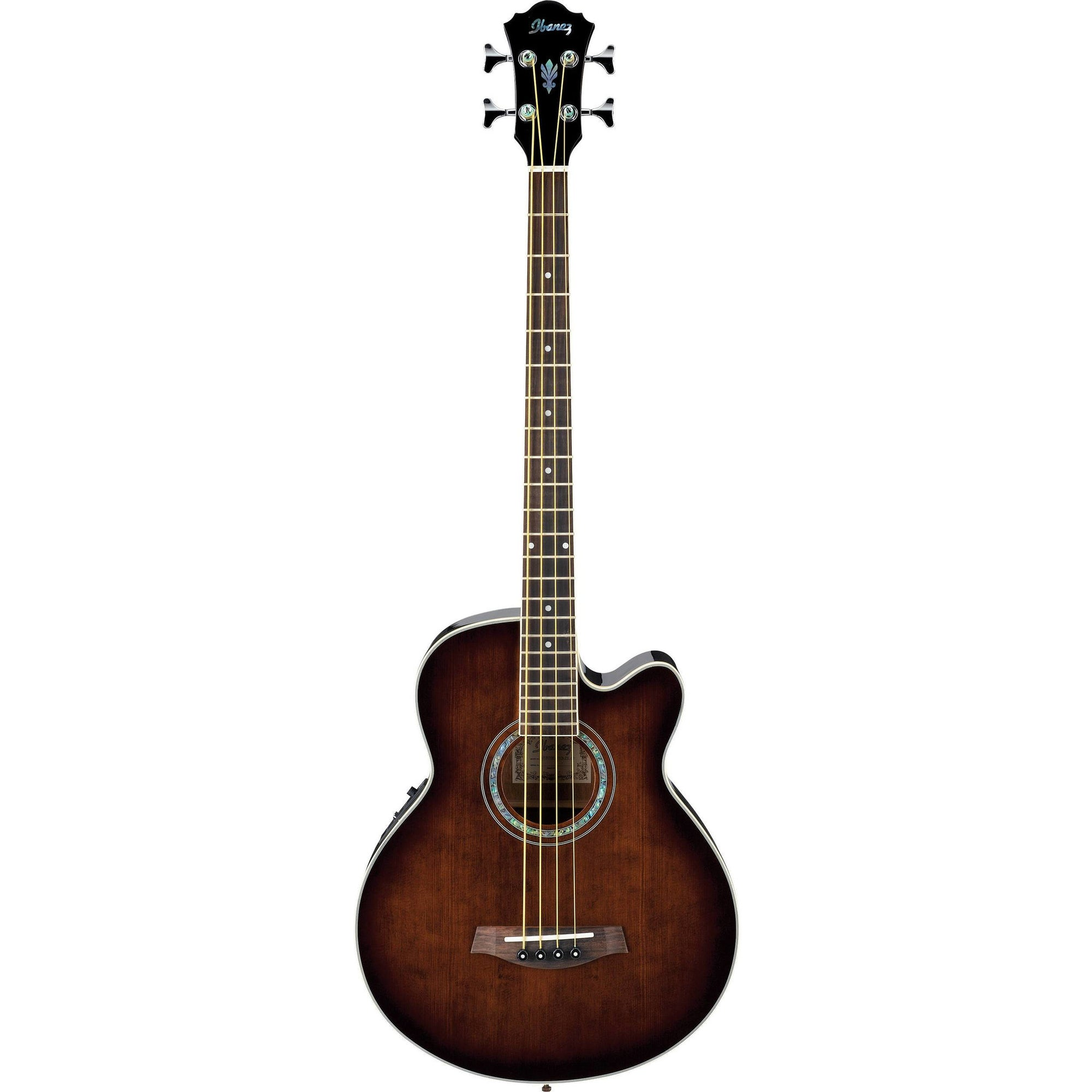 Ibanez AEB10E Acoustic-Electric Bass Guitar - Dark Violin Sunburst