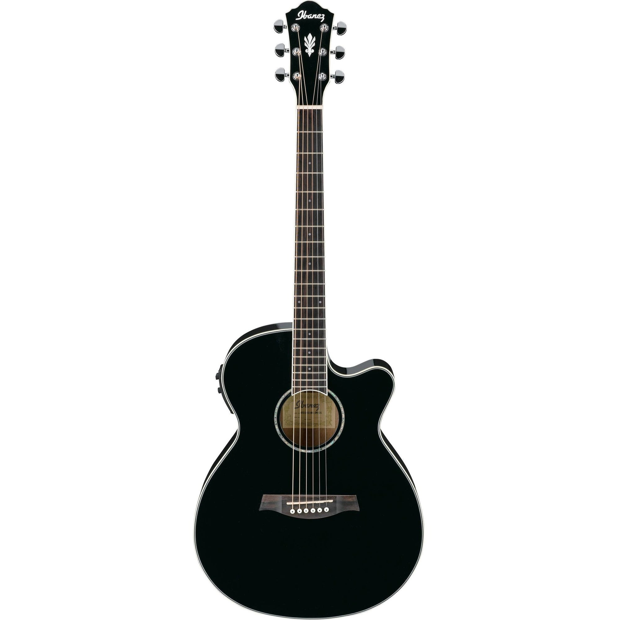 Ibanez AEG10II-BK Black Acoustic-Electric Guitar