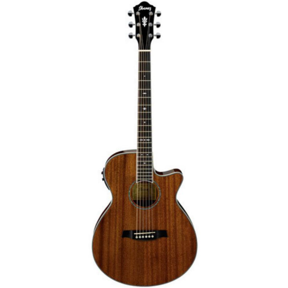 Ibanez AEG12IINT Acoustic-Electric Guitar, Natural Mahogany | Kincaid's Is Music