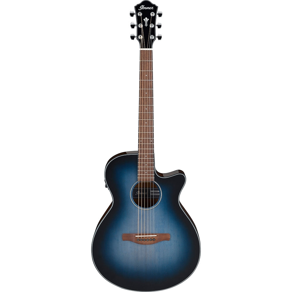 Ibanez AEG50 Cutaway Acoustic Electric Guitar, Indigo Blue Burst High Gloss