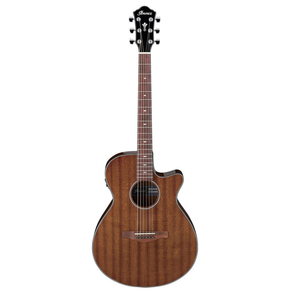 Ibanez AEG62 Cutaway Acoustic-Electric Guitar, Natural Mahogany High Gloss