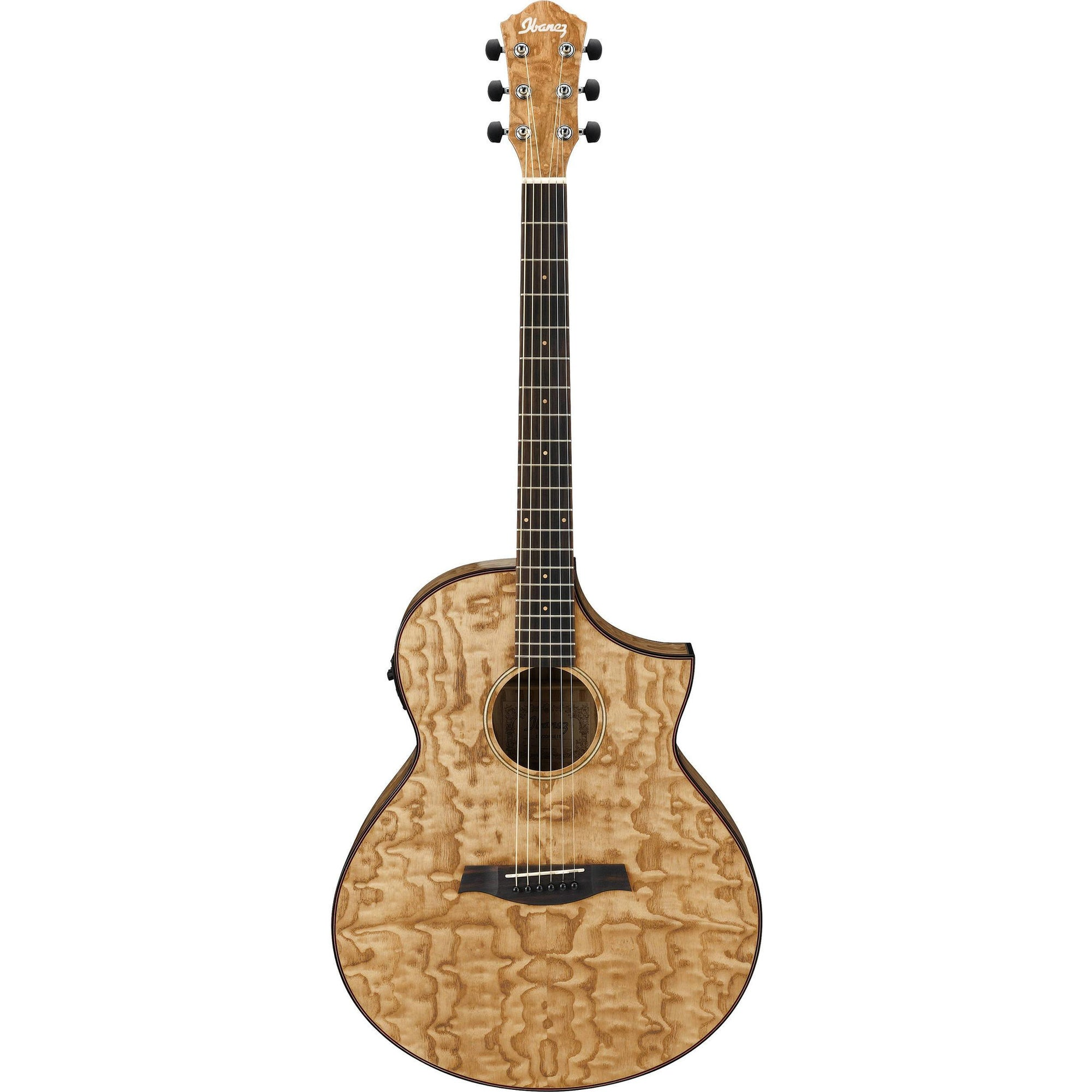 Ibanez AEW40ASNT Exotic Wood Series Acoustic-Electric Guitar - Figured Ash