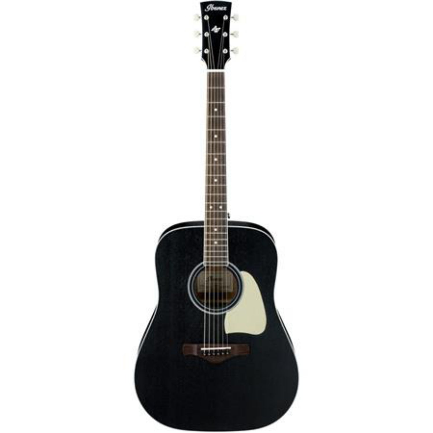 Ibanez Artwood Series Solid Top Dreadnought Acoustic Guitar - Black & White
