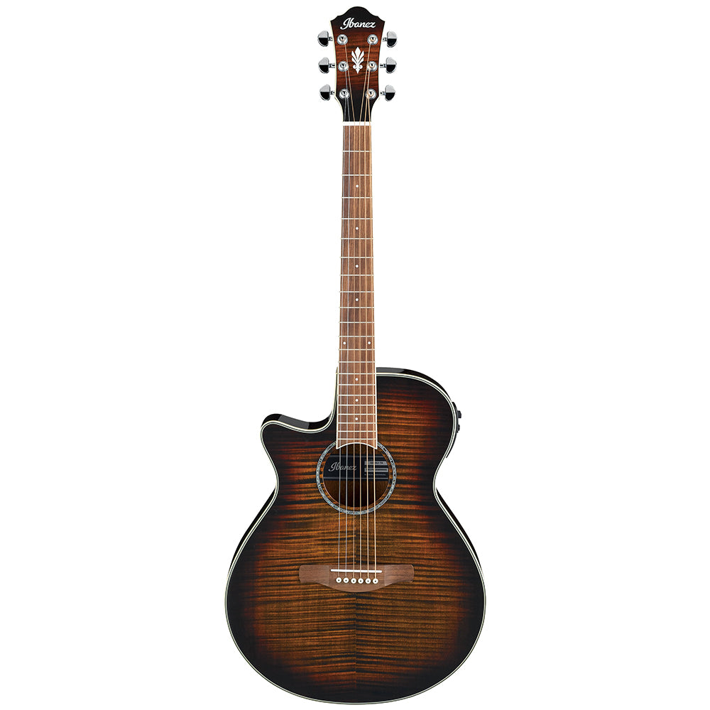 Ibanez Left-Handed Acoustic-Electric Guitar, Tiger Burst | Kincaid's Is Music
