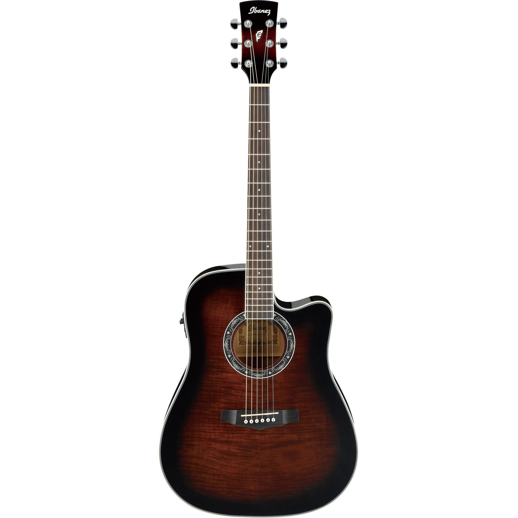 Ibanez PF28ECE-DVS Performance Acoustic-Electric Guitar - Dark Violin Sunburst