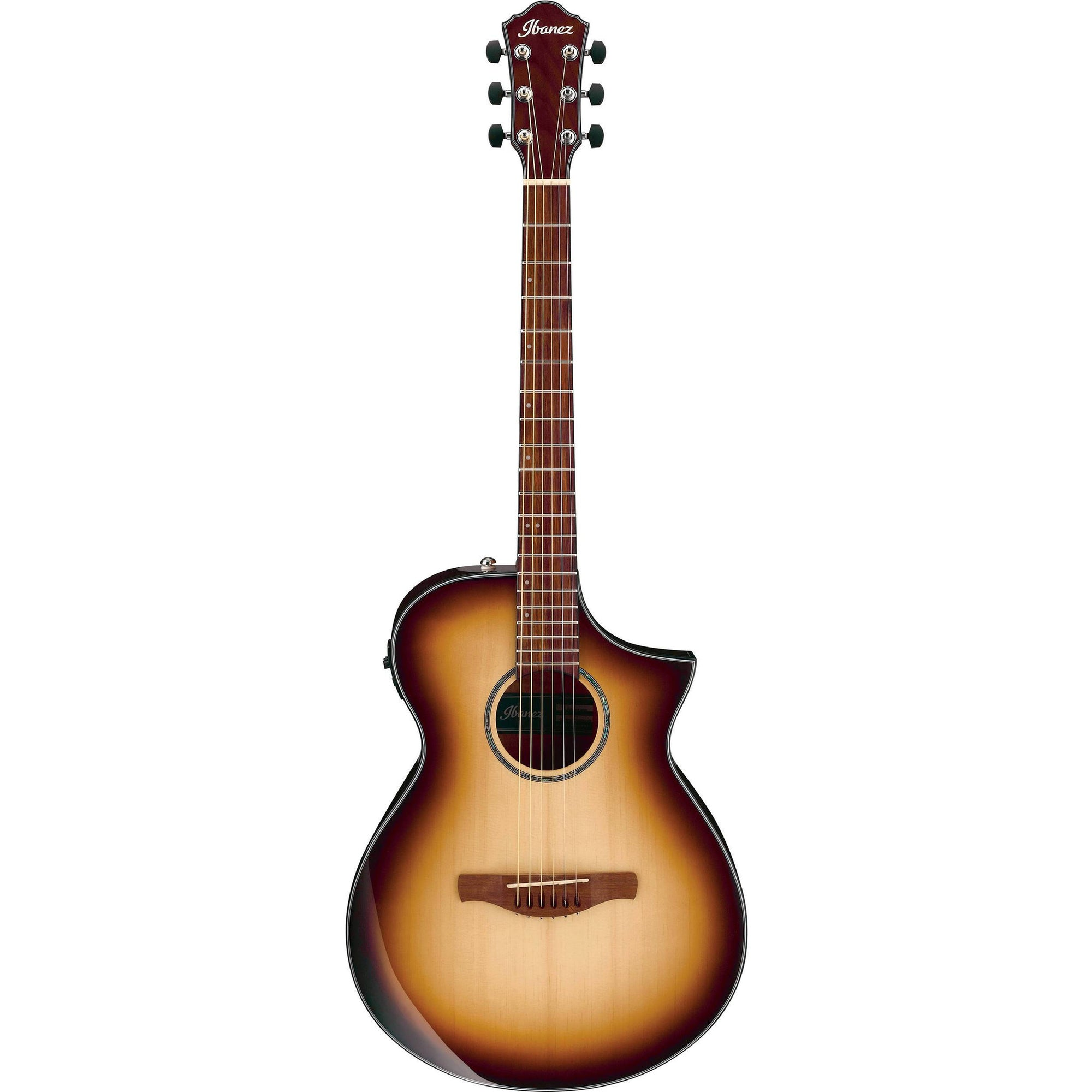 Ibanez AEWC300NNB Natural Browned Burst High Gloss Acoustic-Electric Guitar | Kincaid's Is Music