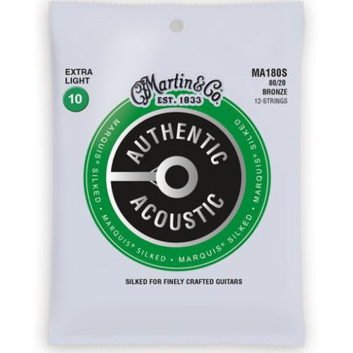 Martin 12 String Extra Light Authentic Acoustic Guitar Strings - Marquis Silked | Kincaid's Is Music