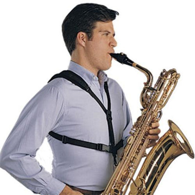 Neotech Soft Harness Sax Strap in use