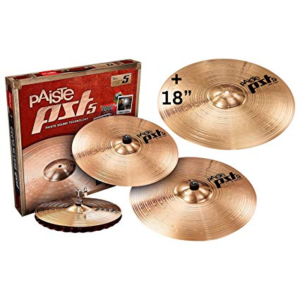 "Paiste PST5 Rock Cymbal Set with FREE 16"" Rock Crash Cymbal 