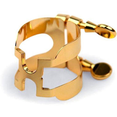 D'Addario Gold-Plated Alto Saxophone H-Ligature
