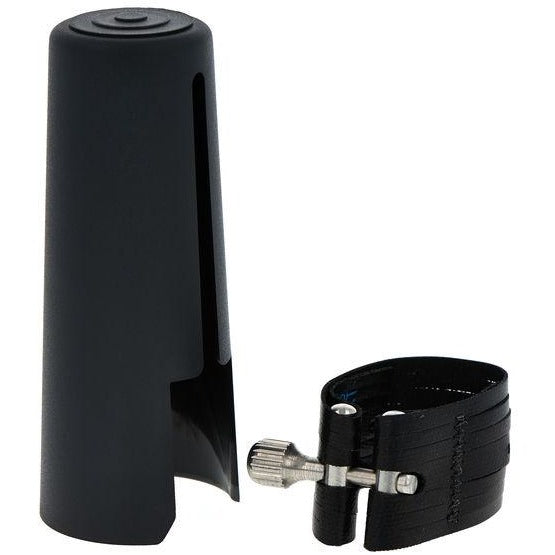 Rovner Dark Bass Clarinet Ligature and Cap | Kincaid's Is Music