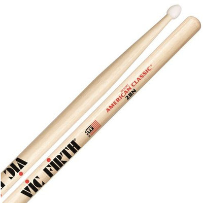Vic Firth American Classic Hickory 2BN Nylon-Tip Drumsticks