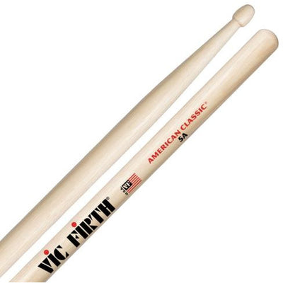 Vic Firth American Classic Hickory 5A Wood-Tip Drumsticks