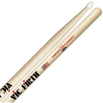 Vic Firth American Classic Hickory 5BN Nylon-Tip Drumsticks