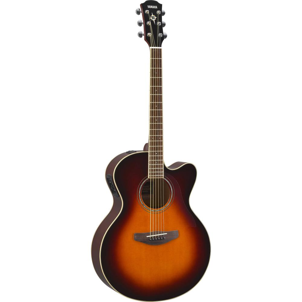 Yamaha CPX600 Series Medium Jumbo Acoustic-Electric Guitar - Old Violin Sunburst