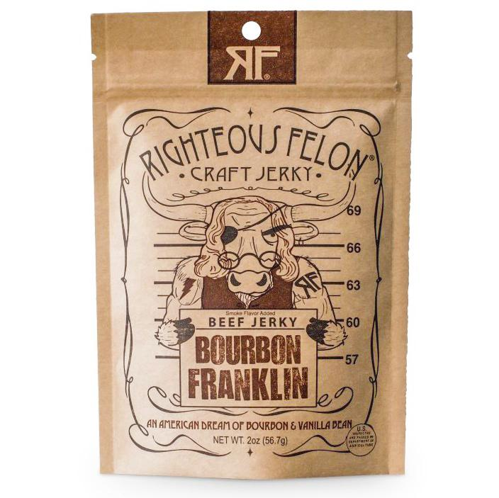 Bourbon Franklin Beef Jerky - B&T Pantry
