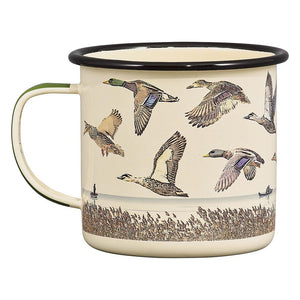 Lakes & Ducks Enamel Mug -17 oz - B&T Home Goods