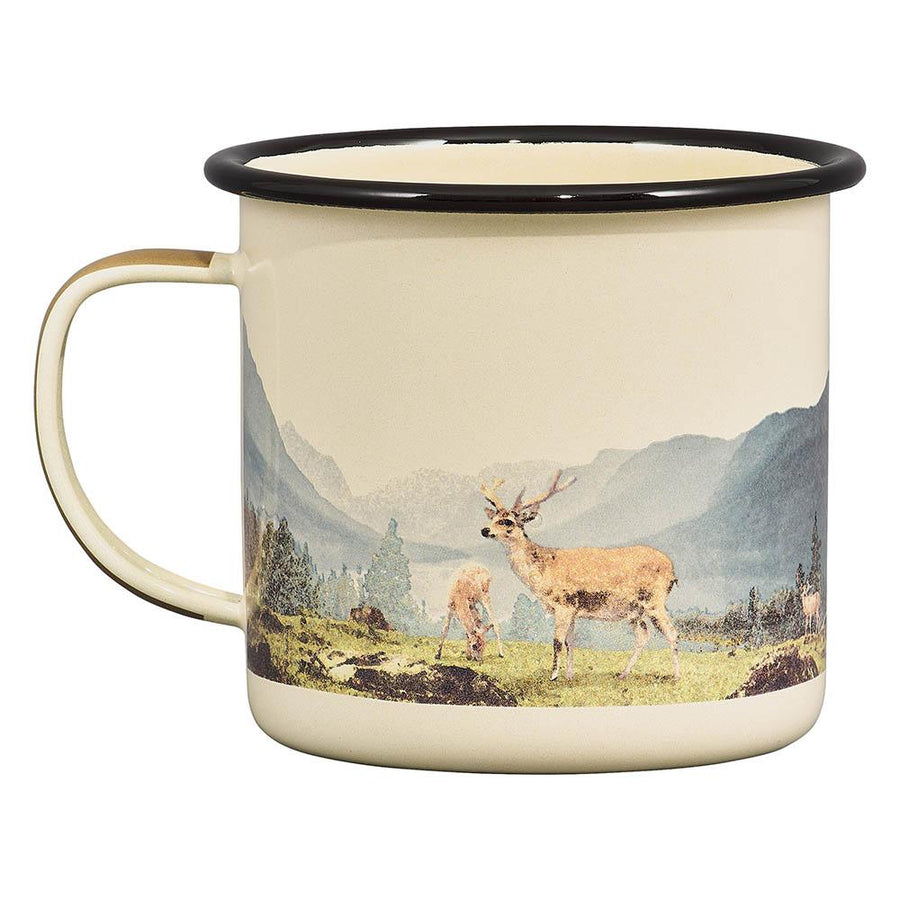 Deer Enamel Mug -17 oz - B&T Home Goods