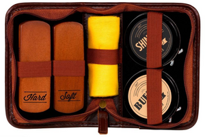 Shoe Shine Kit - Navy Case - B&T Accessories