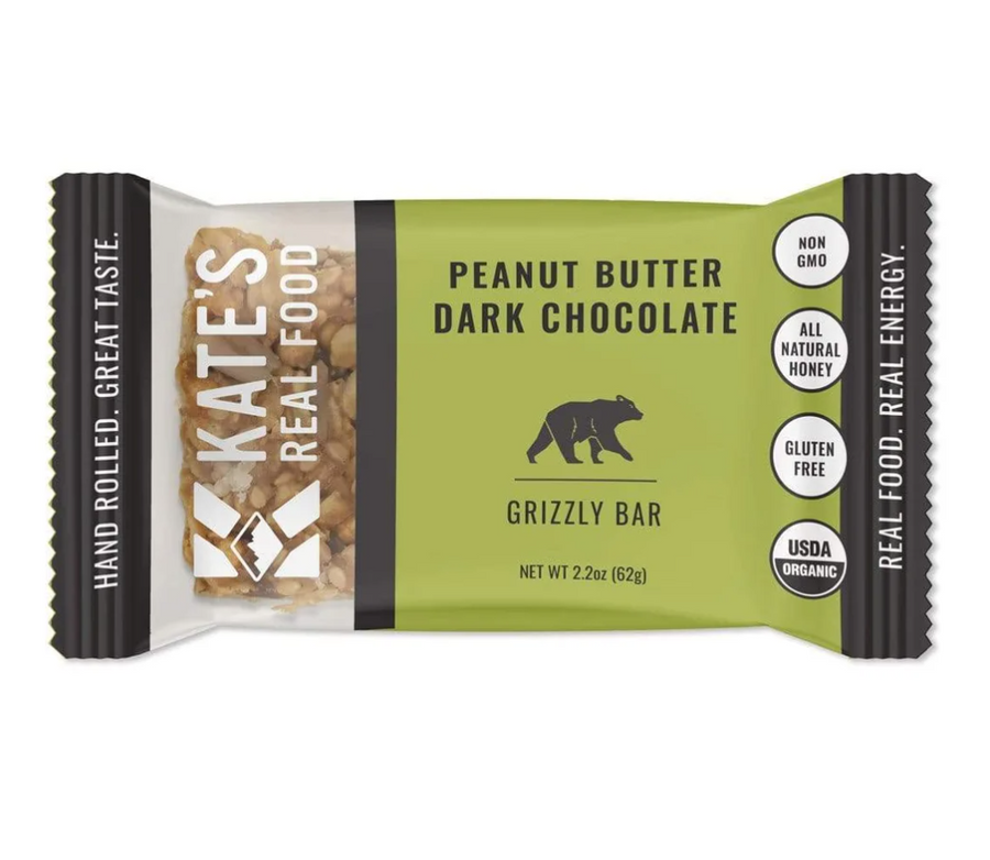 "Kate's Real Food ""Grizzly"" Peanut Butter Dark Chocolate Bar - B&T Pantry"