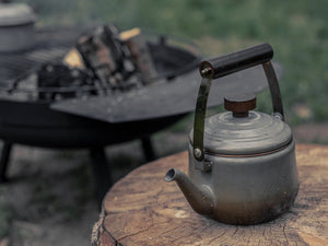 Campfire Enamel Teapot -Walnut- B&T Home Goods