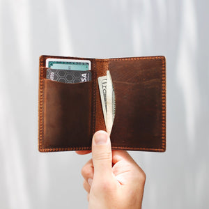 The Whiskey Wallet - Alabama -Flint Leather Co.- B&T Accessories