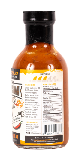 Wing Hot Sauce - Medium Heat - 12 oz - B&T Pantry