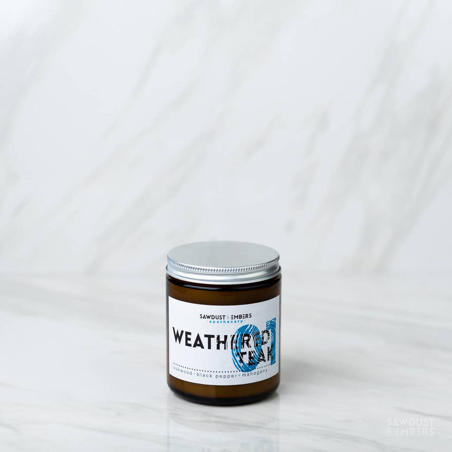 Weathered Teak Apothecary Candle 8.5oz - B&T Home Goods