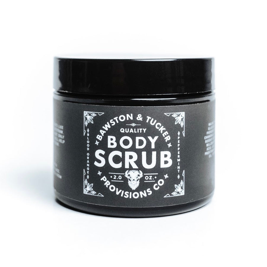 Body Scrub - Blood Orange & Peppermint Walnut Scrub - 2 oz