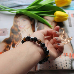 Black Tiger Eye Bracelet, Hematite & Black Obsidian - My Trendify Shop