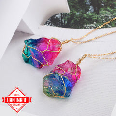 Healing Rainbow Crystal Necklace - My Trendify Shop