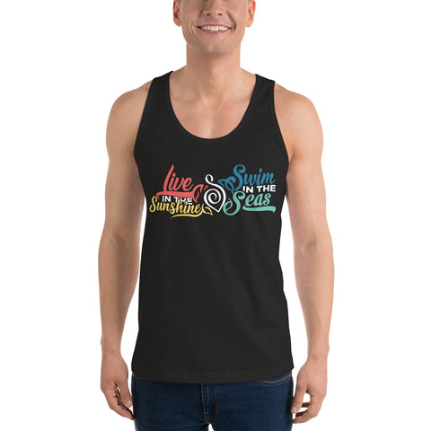 Live In The Sunshine Swim The Sea Classic Tank Top - My Trendify Shop