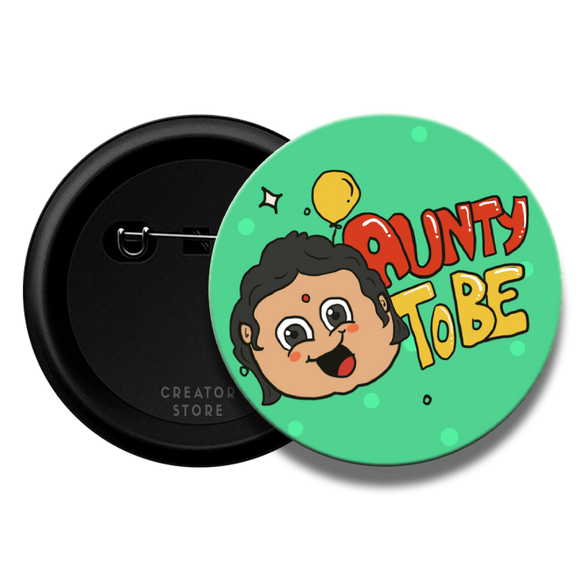 Aunty to be Baby shower Pinback Button Badge