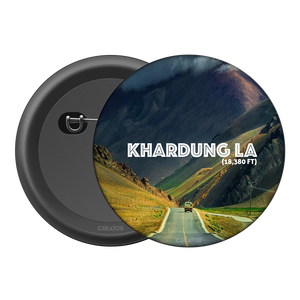 Khardung la Button Badge