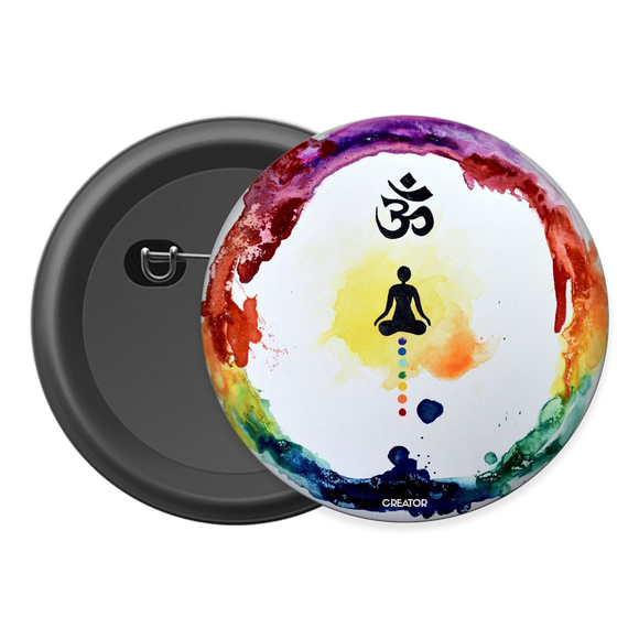 Om Chakra Button Badge