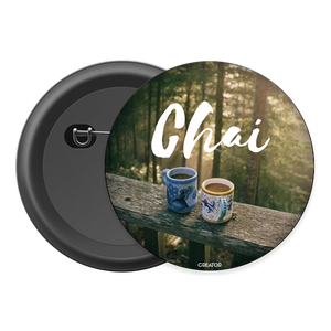 Chai Button Badge