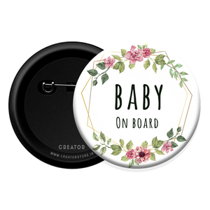 Baby on Board - Baby Shower Button Badge