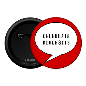 Celebrate diversity Button Badge