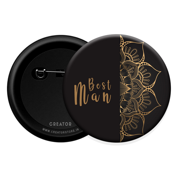 Best man wedding Button Badge