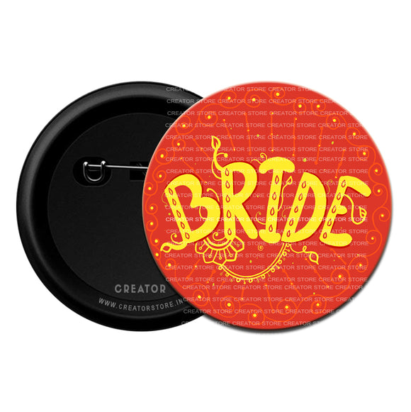 The Bride Wedding Pinback Button Badge