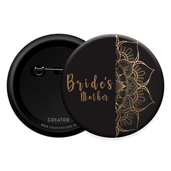 Bride's mother wedding Button Badge