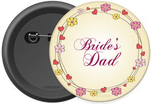 Bride's dad Button Badge