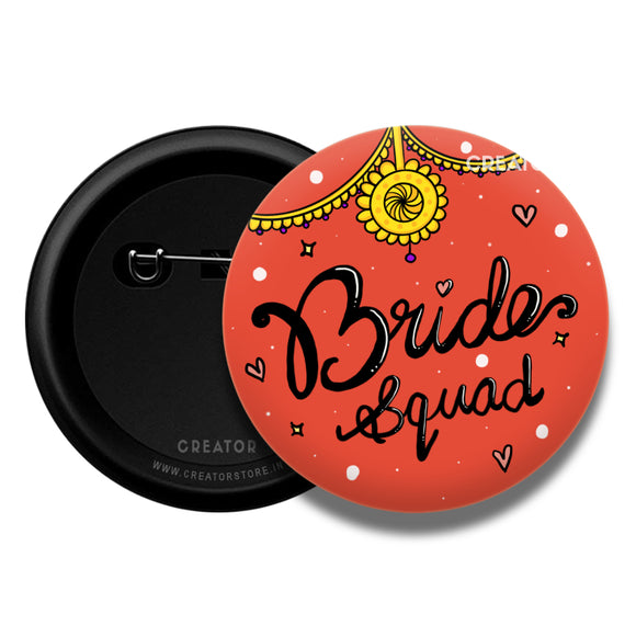 Bride squad wedding Button Badge