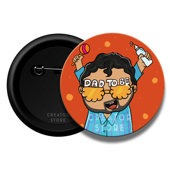 Dad to be Baby shower Pinback Button Badge